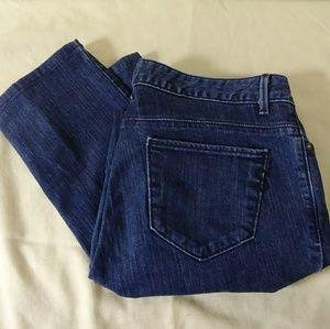 Simply Vera Vera Wang boyfriend dark jeans size 8